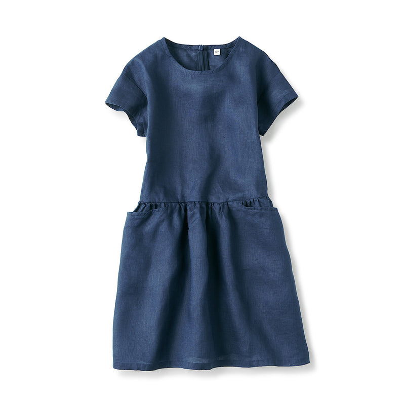 French Linen Washed S/S Dress (Kids)
