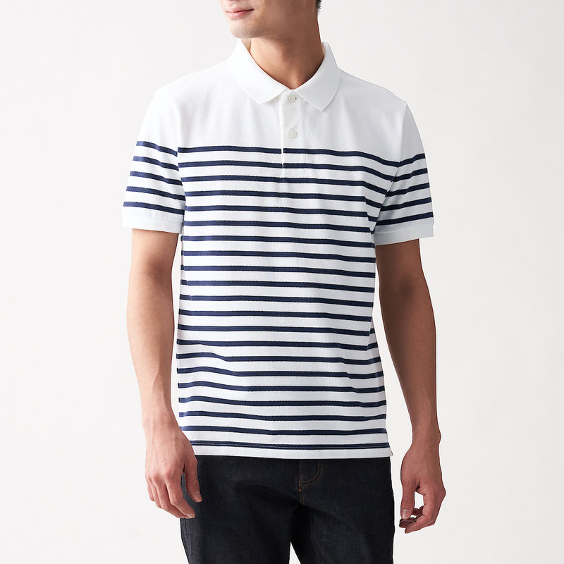 Xinjiang Cotton Pique Border S/S Polo Shirt