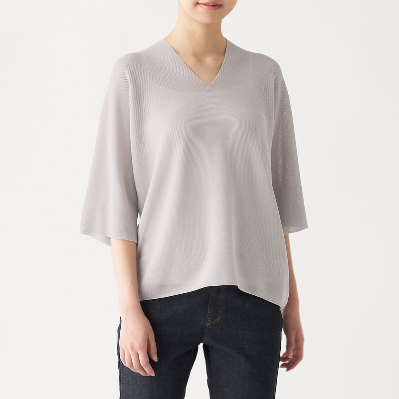 Organic Cotton Blend Complete Seamless V Neck Wide Tunic
