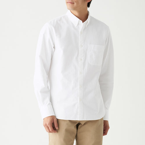 Xinjiang Cotton Washed Oxford Button Down Shirt