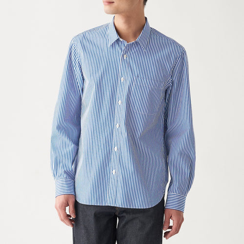 Xinjiang Cotton Washed Broad Stripe Shirt