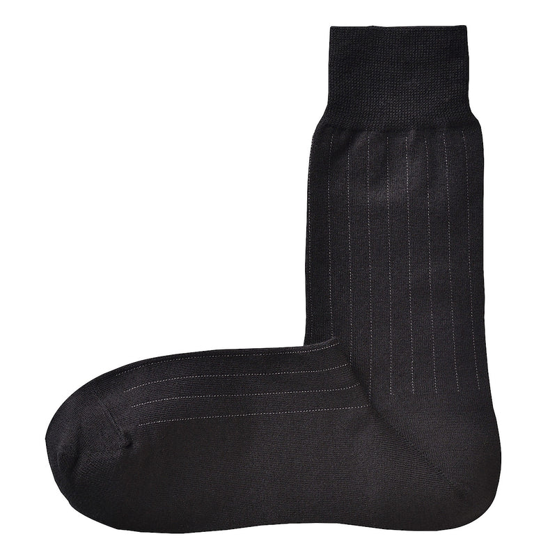 Good Fit Right Angle Rib Stripe Business Socks