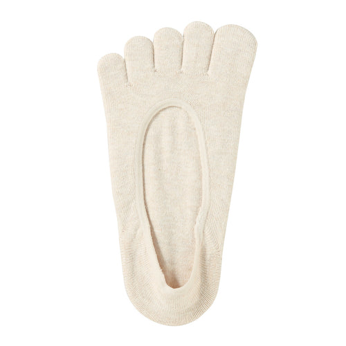 NonSlip Heel Cotton Mix FiveFinger Foot Covers