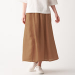 French Linen Gathered Skirt