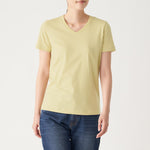 Indian Cotton Jersey Stitch V Neck S/S T-Shirt