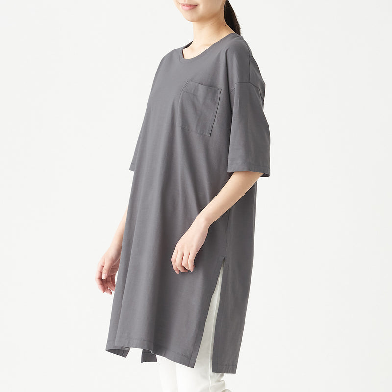 Slub Jersey Stitch Long Tunic