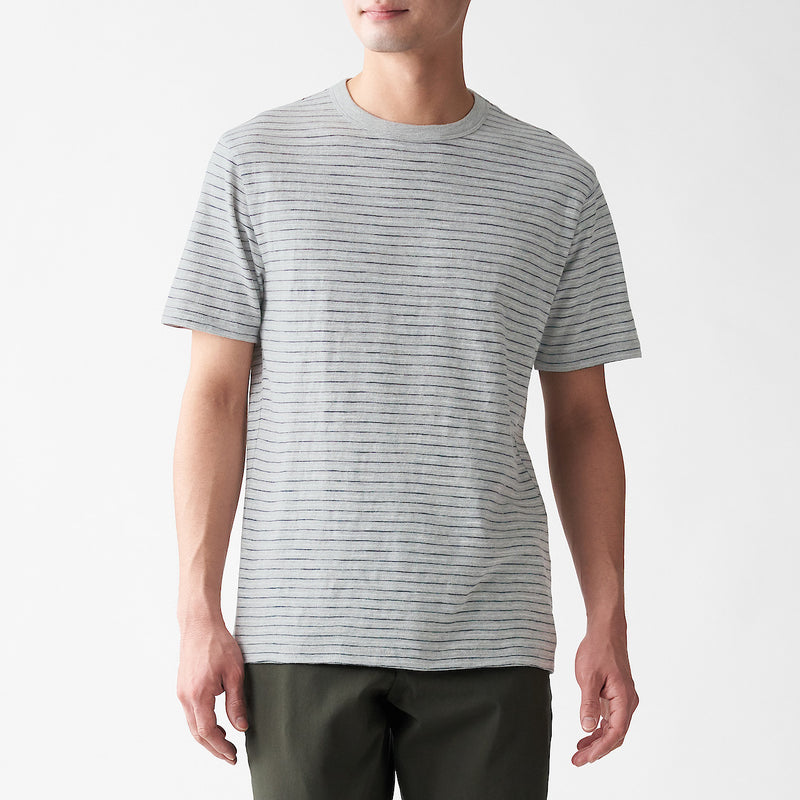 Slub Jersey Stitch Border S/S T-Shirt