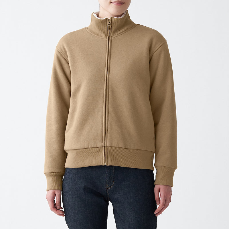 Boa Lining Fleece Zip Blouson
