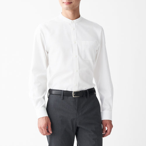 Non-Iron Stand Collar Shirt