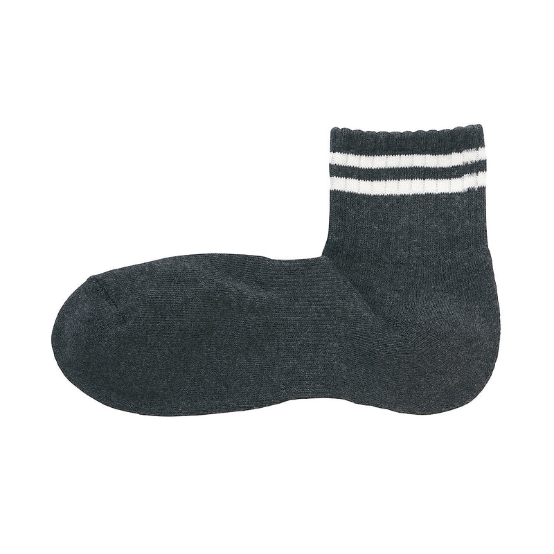 Right Angle Pile Short Line Socks