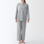 Side Seamless Double Gauze Stand Collar Pajamas