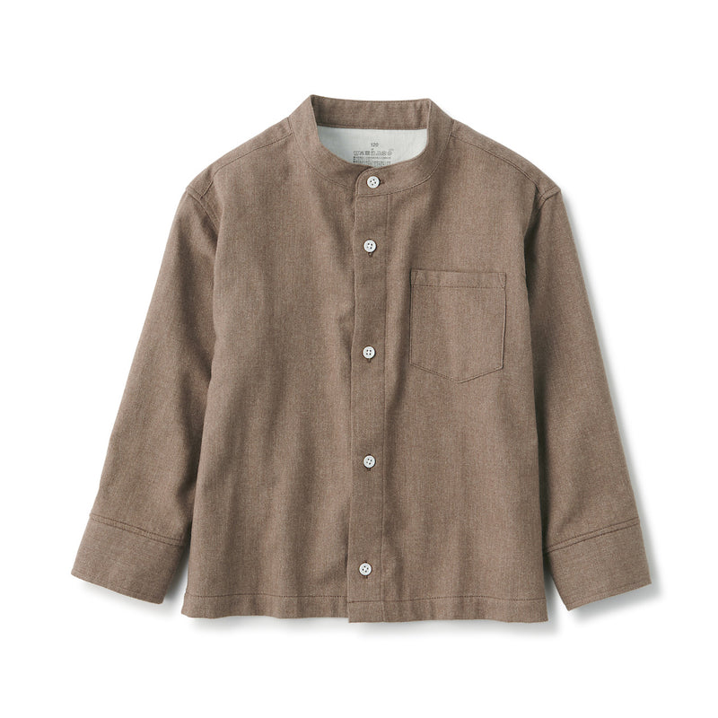Indian Cotton Flannel Stand Collar Shirt (Kids)