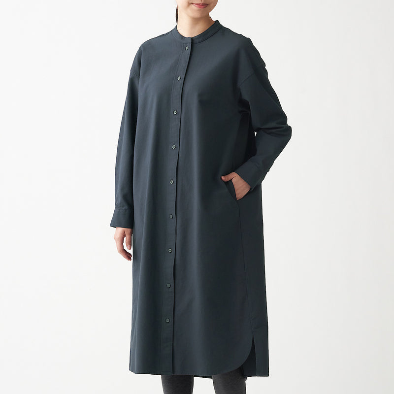 Xinjiang Cotton Oxford Stand Collar Dress