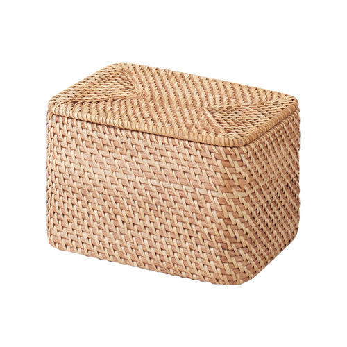Stackable Rattan Box With Lid