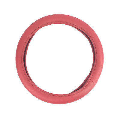 RED UNIVERSAL GRIP STEERING WHEEL COVER GLOVE HQ LEATHER