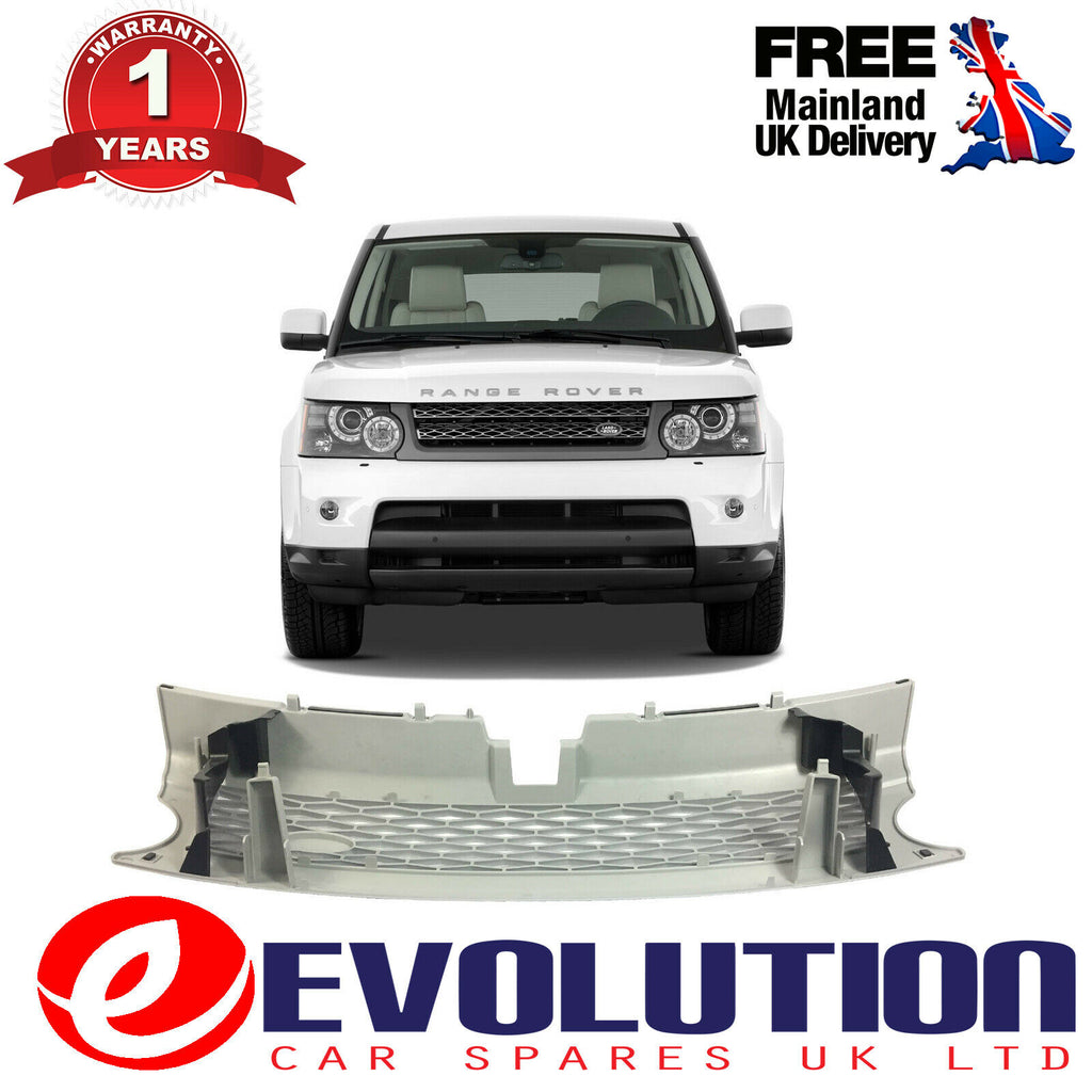 FRONT GRILLE SILVER FRAME HONEYCOMB CENTRE MESH FITS RANGE ROVER SPORT L320