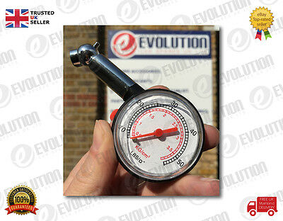 CAR & BIKE & MOTORBIKE DIAL TIRE GAUGE METER PRECISION PRESSURE TYRE MEASURE