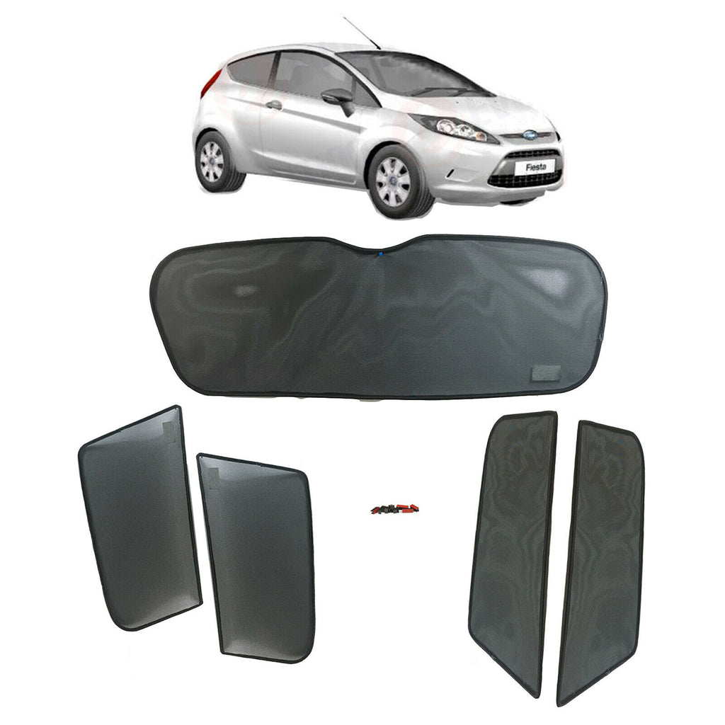 FORD FIESTA SUNSHADE SET / SUN VISOR SETS 5 WINDOWS/ 5 PCS 2009 TO 2010