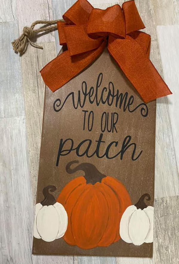 Fall Pumpkin Sign