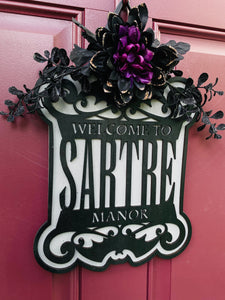 Halloween Family Name Sign