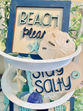 Load image into Gallery viewer, Beach Themed Tiered Rack Decoration Set