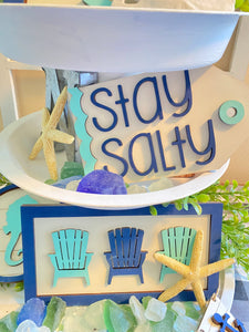 Beach Themed Tiered Rack Decoration Set