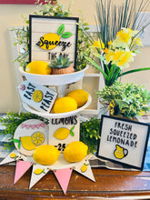 Load image into Gallery viewer, DIY Lemonade Sign Tiered Tray Set Unfinished