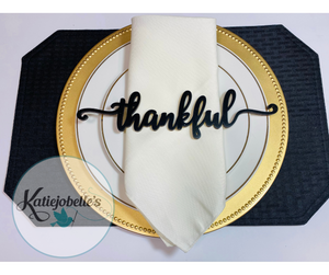 Thanksgiving Place Setting Words-Set of 5
