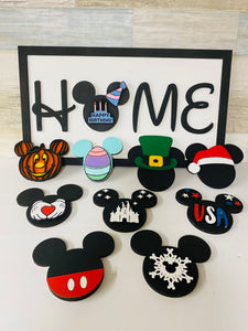 HOME Disney Inspired Interchangeable Sign