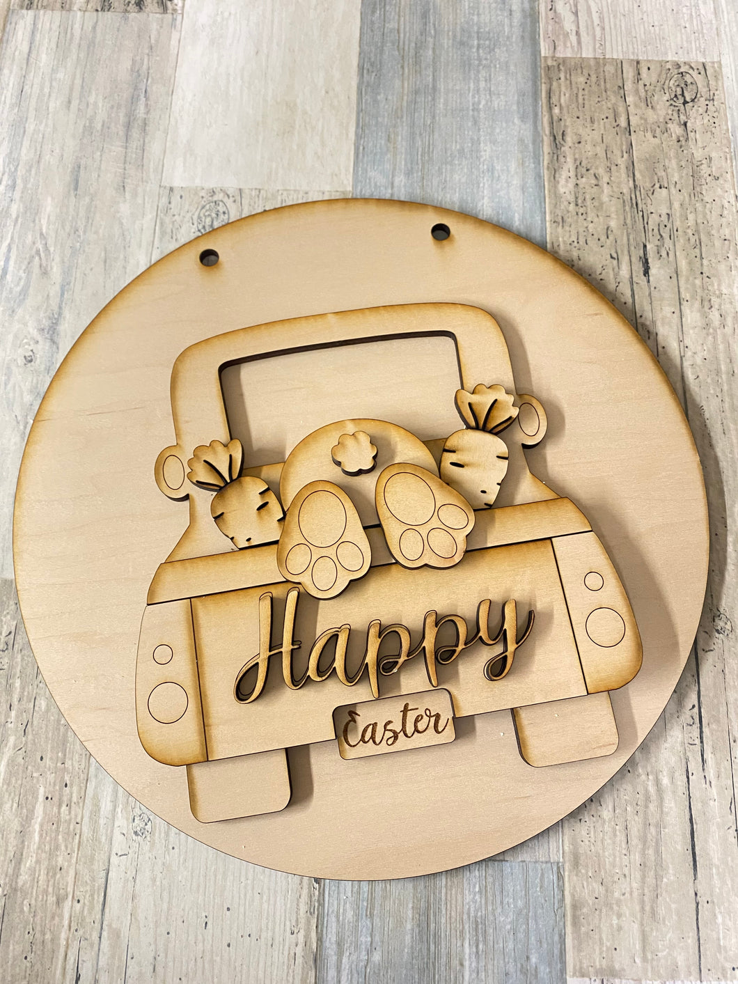 March Challenge Kit-Round Easter Truck Sign