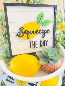 Lemonade Sign Tiered Tray Set