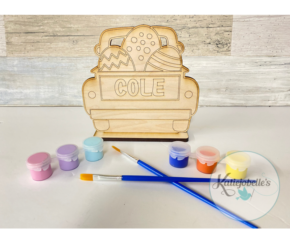 Easter Paint Kit- Truck with Eggs Personalized