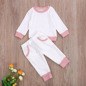 Baby Girl White/Pink Outfit Set