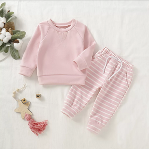 Baby Girl Sweatshirt/Pants Set