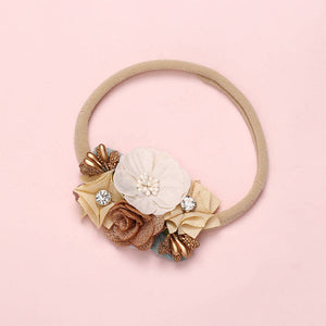 Flower Head Band Bows