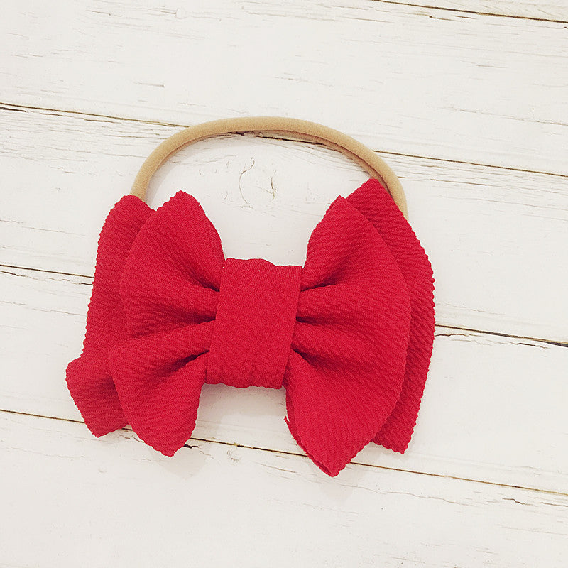 Baby Girl Big Head Band Bows