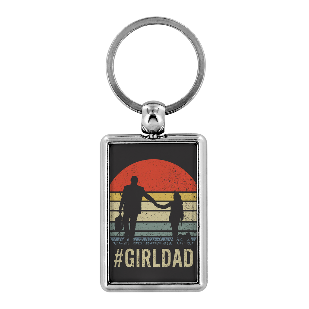 Girl Dad Keychain