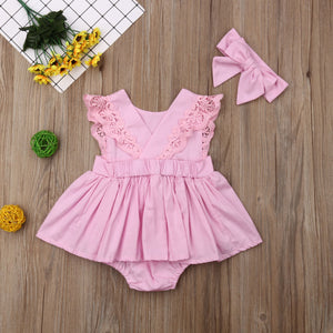 Baby Girl Sleeveless Skirted Romper
