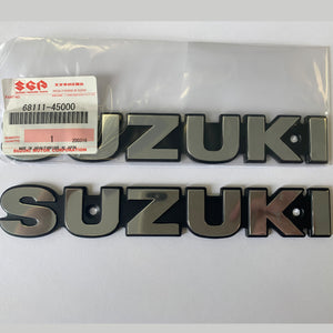 GENUINE SUZUKI FUEL TANK EMBLEMS (CHROME) GS750 GS550 GS440  68111-45000