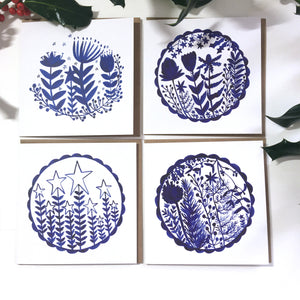 Pack of 50 Christmas Festive Plants Blank Luxury Eco-conscious Cards