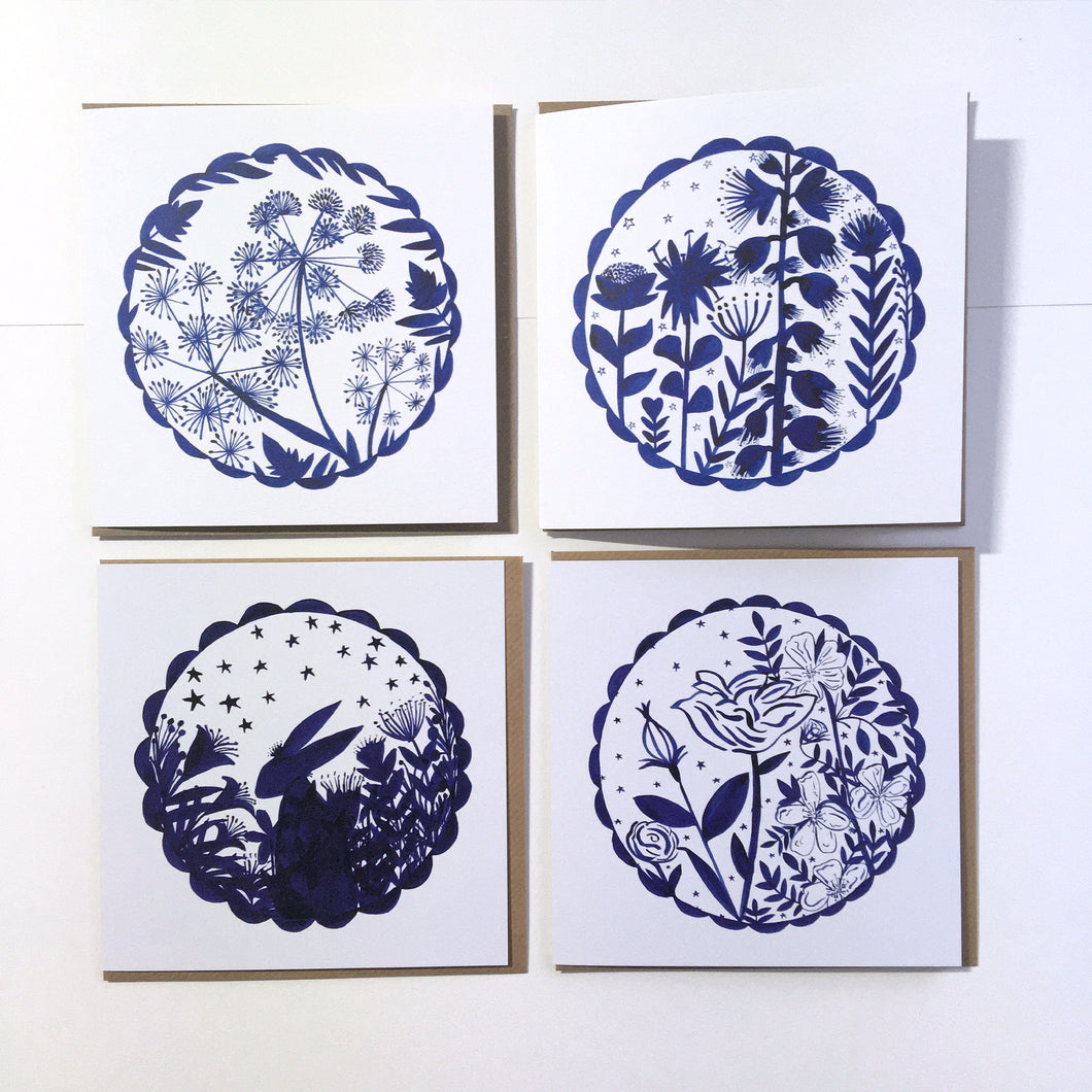 My Flower Pack of 4 Blank Eco-conscious Cards
