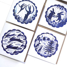 Load image into Gallery viewer, Mixed Pack of 50 Christmas Festive Hares/Birds/Plants Blank Luxury Eco-conscious Cards