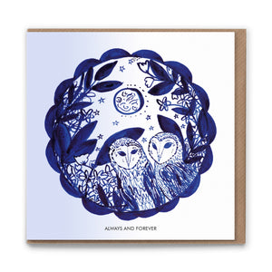 Owls (Always and Forever) Blank Greetings Card
