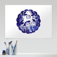 Load image into Gallery viewer, Owls Limited Edition A2 giclée print