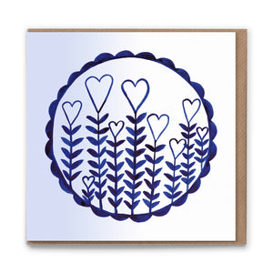 Love Grows Blank Greetings Card