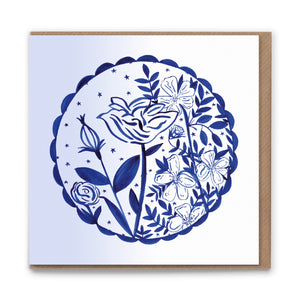 Evening Rose Blank Greetings Card