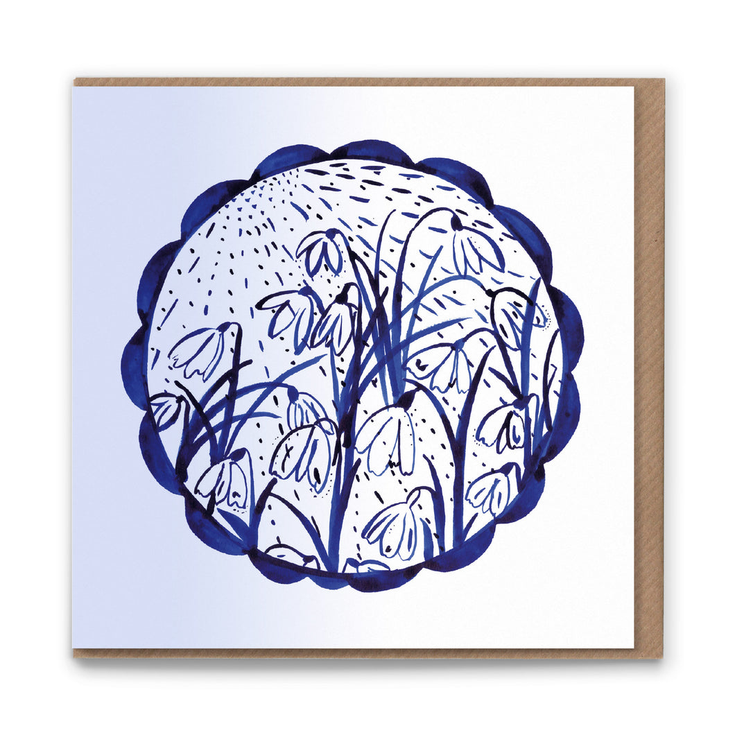 Snowdrop Sun Blank Greetings Card