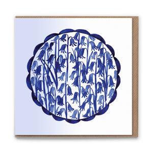 Bluebells Blank Greetings Card