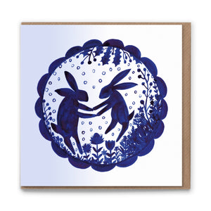 Winter Dancing Blank Greetings Card