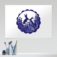 Load image into Gallery viewer, Heart Hares A2 Limited Edition giclée print